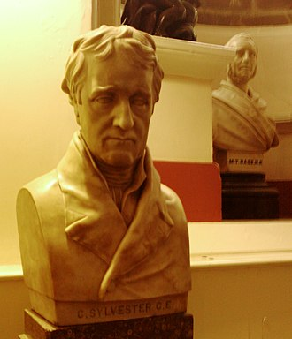 Charles Sylvester - Bust in Derby Museum by Francis Chantrey