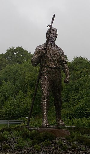 Blackwood, Caerphilly - Chartist Statue in Blackwood