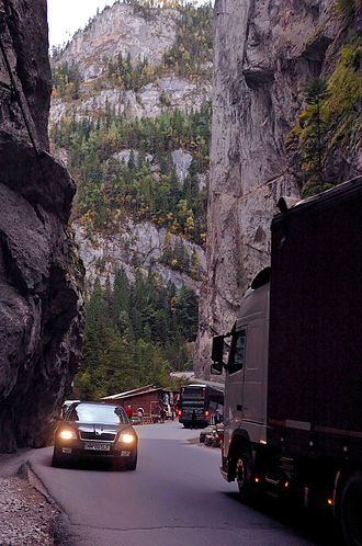 Bicaz Gorge - Bicaz Gorge, a narrow pass linking Transylvania to the historical Romanian region of Moldavia along DN12C national road