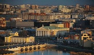 Chelyabinsk - Chelyabinsk Opera Theater and vicinity