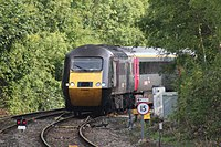 Chepstow - Crosscountry 43384 diverted southbound.JPG