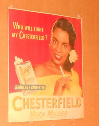 Chesterfield (cigarette) - Classic 20th century advertisement of Chesterfield cigarettes