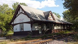 National Register of Historic Places listings in Jefferson County, Wisconsin - Image: Chicago and NW Passenger Station Watertown 2