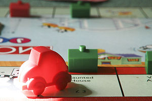 A photograph of the children's version of Monopoly