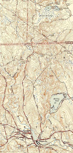 Chockalog River - Image: Chockalog River (Massachusetts + Rhode Island) map
