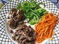 Chopped capsicum, mushroom, meat and carrot in a plate.jpg