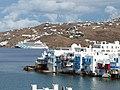 Chora of Mykonos mit Kreuzfahrtschiff@171025.JPG