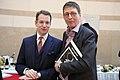 Christie's President EMERI Dirk Boll, Galerist Aurel Scheibler (40042030425).jpg