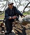 Christo Deltshev, on Samothraki Island, Greece, May, 2008.jpg