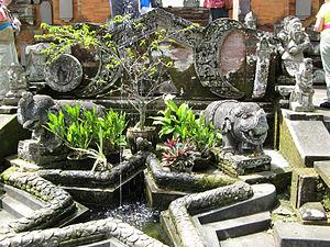 Chronogram - Modern chronogram at Pura Penataran Sasih in Bali