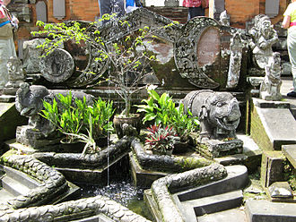 Chronogram - Modern chronogram at Pura Penataran Sasih in Bali