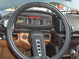 "Citroën CX - ""Spaceship"" dashboard with rotating drum speedometer in Series 1 CX models (1974–85)"