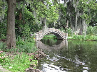 City Park (New Orleans) - Image: City Park Bayou Bridge