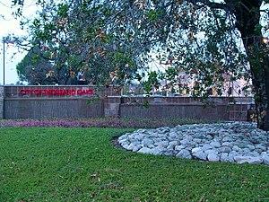 Thousand Oaks, California - City of Thousand Oaks sign and oak tree