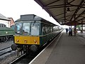 Class 115 DMU at Minehead station - geograph.org.uk - 1714608.jpg