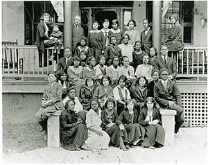 Avery Research Center for African American History and Culture - Class photo on the grounds of the Avery Normal Institute, 1924