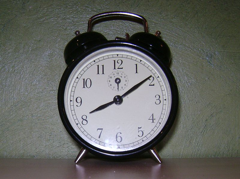 photograph of an alarm clock