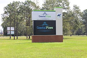 Coastal Pines Technical College - Image: Coastal Pines Technical College sign