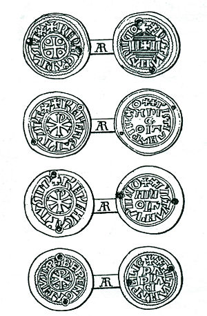 Berengar I of Italy - Some coins of Berengar's found in Hungary, possibly from payments made to Magyar raiders or mercenaries