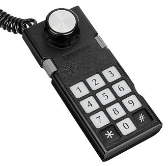 ColecoVision - The ColecoVision's controller featured a numberpad that could be fitted with overlays.