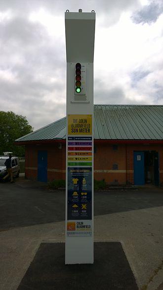 BBC Radio Derby - Image: Colin Bloomfield Sun Meter Markeaton Park