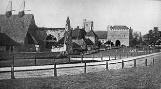 College of All Saints, Maidstone - College farm, 1866. Showing most of the buildings remaining today. The oast house on the left has been demolished.