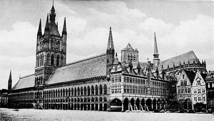 Collier's 1921 World War - Cloth Hall of Ypres.jpg