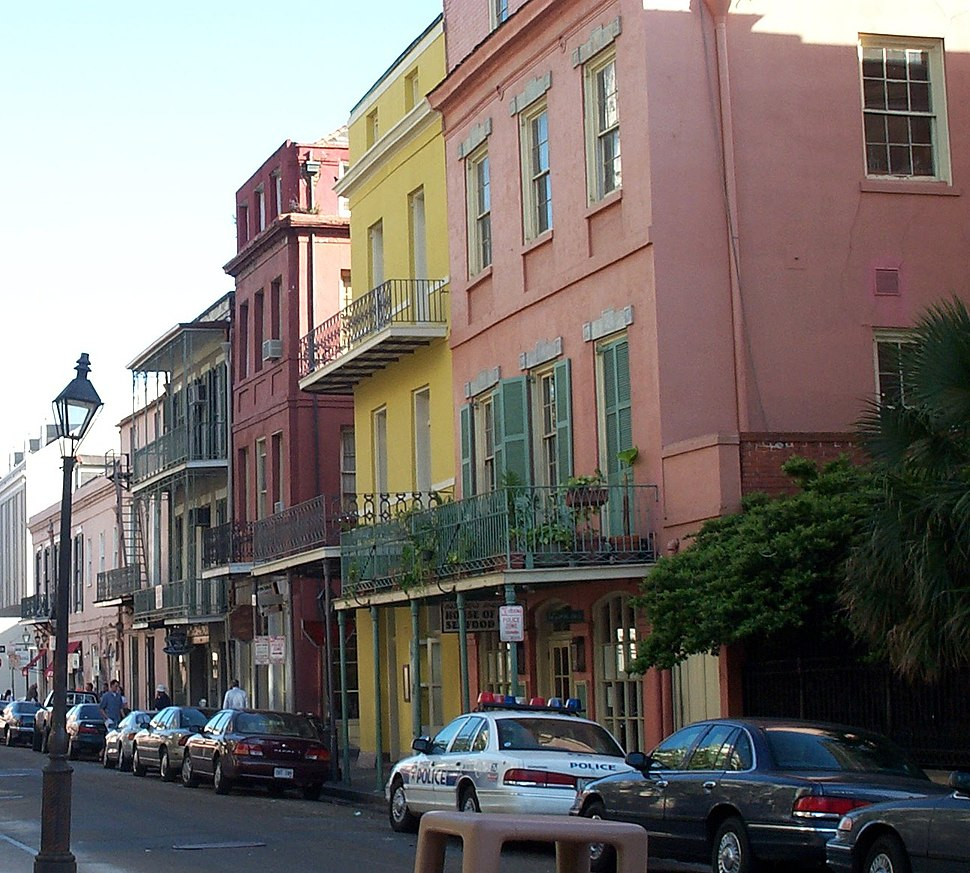 Colorful houses in New Orleans