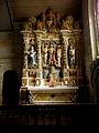Commana (29) Église Saint-Derrien Retable des cinq plaies 01.JPG