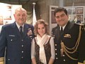 Commodore Di Pietro (RAN) & his daughter at the USCG Holiday Party held at WIMSA, Washington DC. (3116604345).jpg