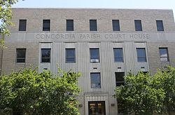 Old Concordia Parish Courthouse in Vidalia