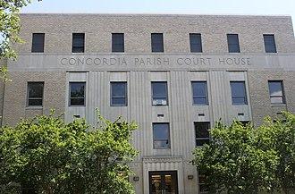Concordia Parish, Louisiana - Image: Concordia Parish, LA, Courthouse in Vidalia IMG 6910