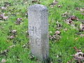 Concrete marker, in Flookersbrook, Hoole - geograph.org.uk - 666687.jpg