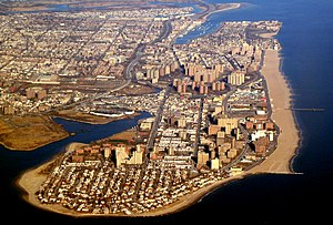 Coney Island - The Coney Island peninsula from the air