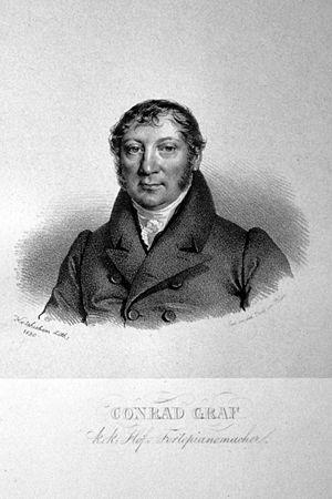 Conrad Graf - Conrad Graf — lithograph by Josef Kriehuber, 1830
