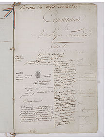 Constitution du 22 frimaire an VIII (13 decembre 1799). Page 3 - Archives Nationales - AE-I-29-4.jpg