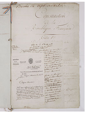 Constitution of the Year VIII - Constitution of the Year VIII (1799).