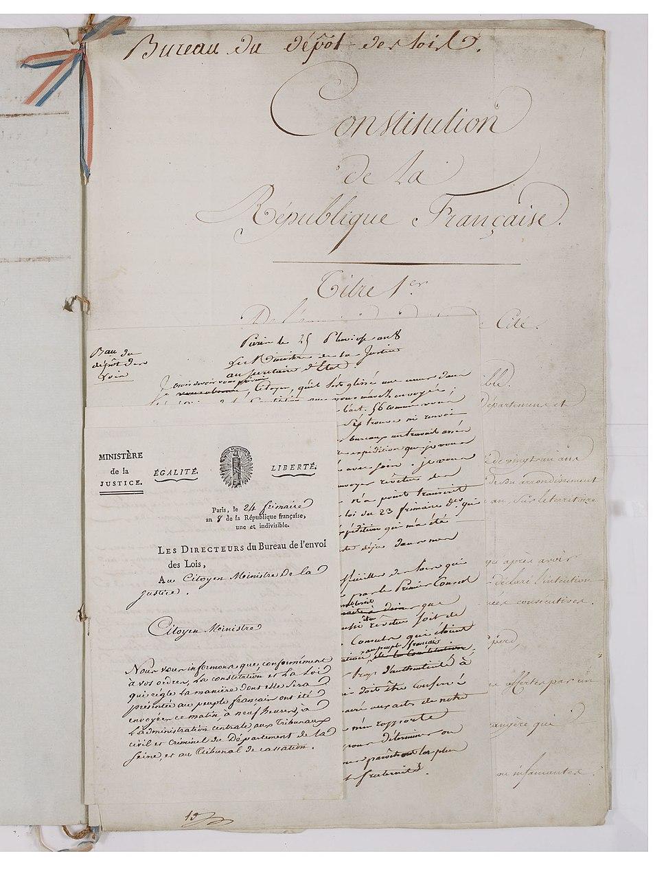 Constitution du 22 frimaire an VIII (13 décembre 1799). Page 3 - Archives Nationales - AE-I-29-4