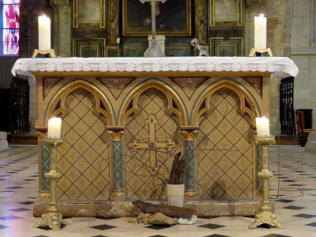 file cormeilles en parisis 91 glise saint martin ma tre autel jpg wikimedia commons. Black Bedroom Furniture Sets. Home Design Ideas