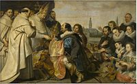 Cornelis de Vos - The Citizens of Antwerp bring back to Saint Norbert the Monstrance and other Sacred Vessels that they had hidden from Tankelin.jpg
