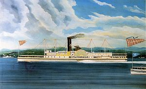 Cornelius Vanderbilt - C. Vanderbilt, Hudson River steamer owned by Cornelius Vanderbilt (oil on canvas by James and John Bard).