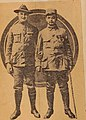 Corporal Pierre Tihon, who was blinded in an attack in the Argonne. Louis H. Cohn is leading him.jpg
