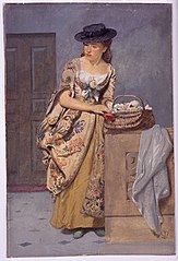 Costumed Woman with Vegetables