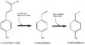 Coumaric acid to 4-ethyphenol.png