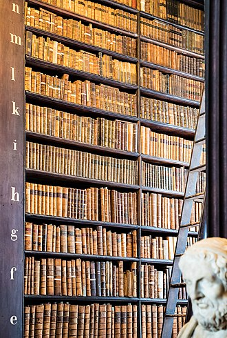 Trinity College Library - Detail of Long Room shelving