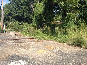 County Line station (SEPTA Regional Rail) - County Line station site in September 2016