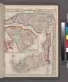 County map of North Carolina, Map of South Carolina, County map of Florida; Map of Charleston Harbor (inset). NYPL1510810.tiff