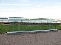Cove Fort County Cork Titanic Memorial Garden Main Glass Memorial.JPG