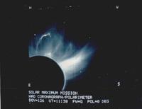 Coronagraph image of the Sun