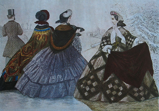 Crinoline fashion 1860